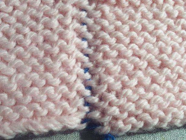 Mattress sitch seam for garter stitch peices
