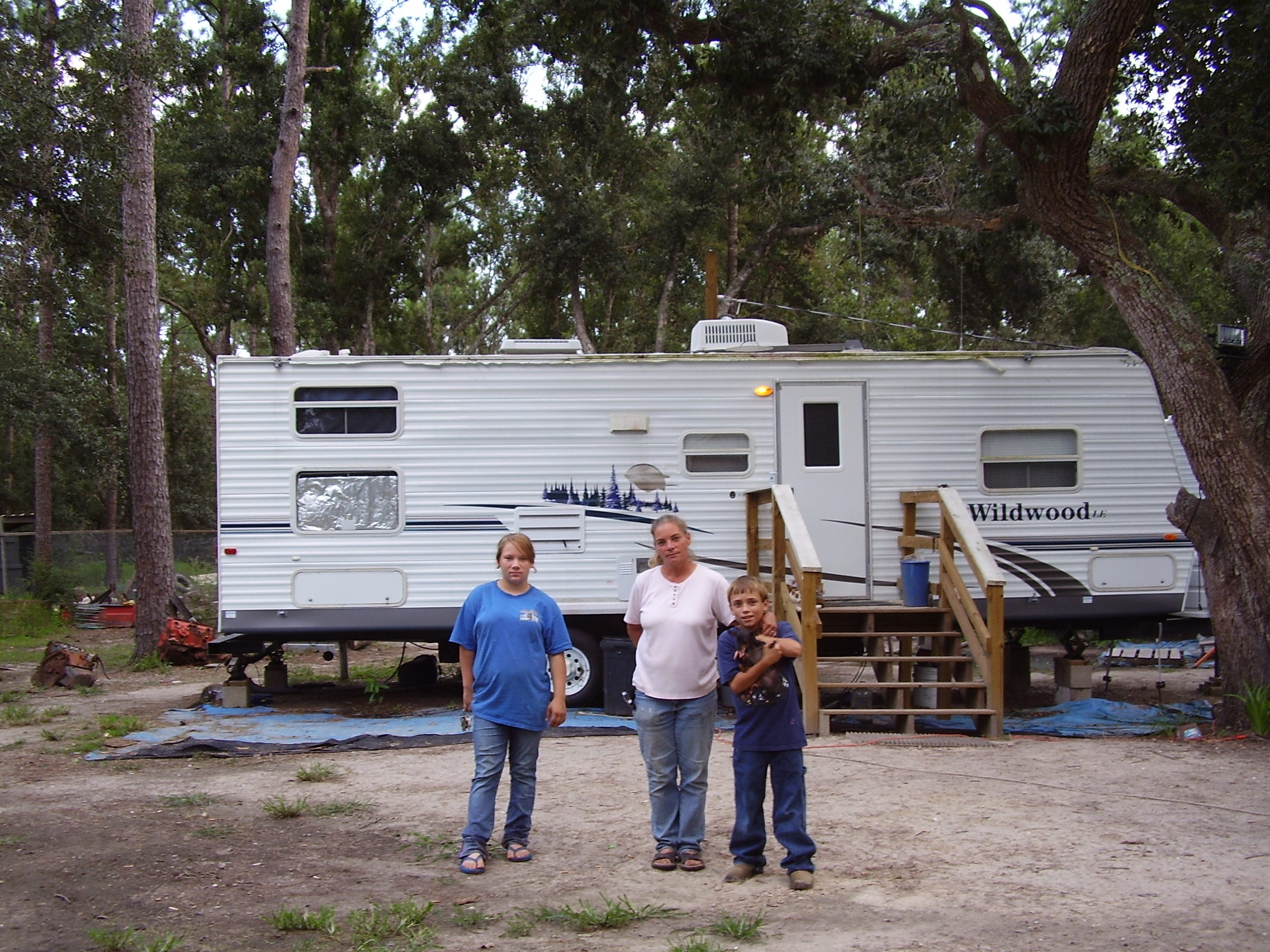 The FEMA trailer which is home and will be taken away in February