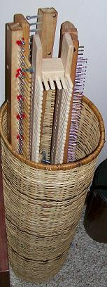 A basket full of knitting boards!