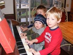 cousins playing piano