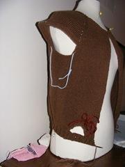 chic knits hoodie progress