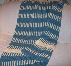 Stripes Afghan for knitting board